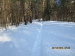 Residents snowshoe trail