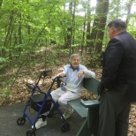 Part of one trail is usable by residents using walkers.